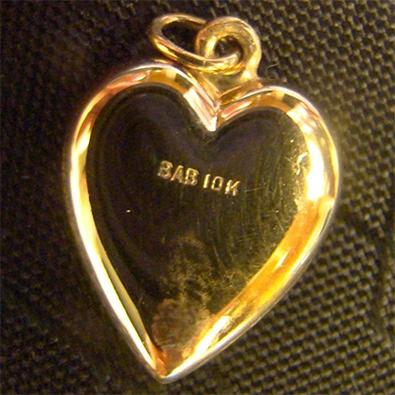 ... Кулон в виде сердечка, красное золото 10 карат 458487cc506