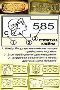 как выгл¤дит проба золота в казахтане