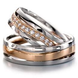 aadb6d6b ... Кольца из красного и белого золота с бриллиантами